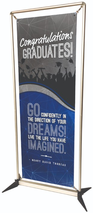 Congratulations custom banner, graduates banner, banner stand, school banners, easy to setup banner stand
