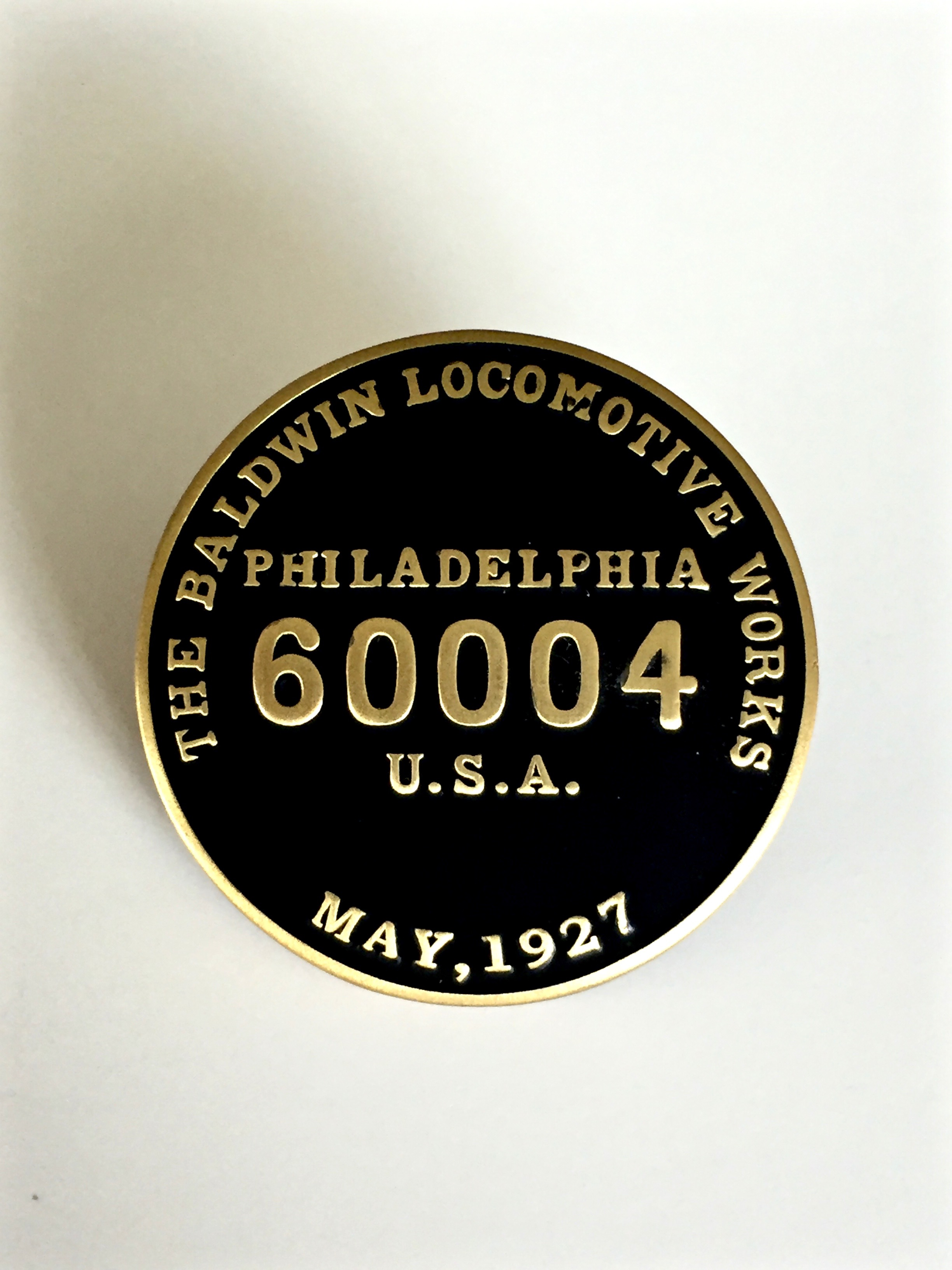 3751 Builders Plate Lapel Pin