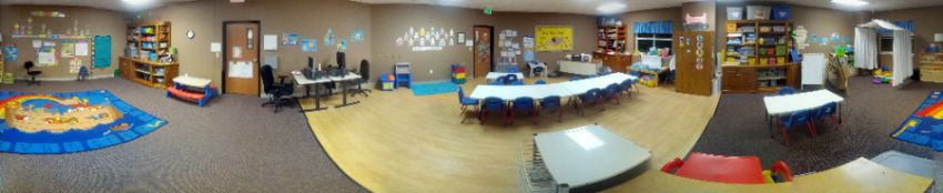 A picture of the Preschool Discoverer's classroom at LSS Childcare & Education Services, Sioux Falls.