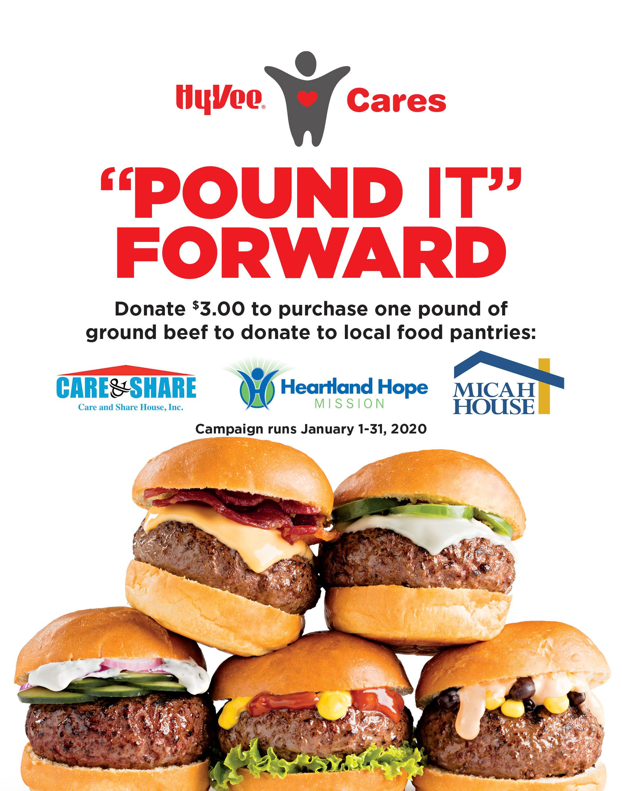 """Pound it Forward"" Campaign Going On Now at Omaha area Hy-Vee stores."
