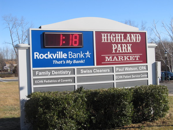 Post & Panel / Monument Shopping Center Directory Sign, Vinyl Graphics on a Fabricated Aluminum Cabinet, Lexan Panels