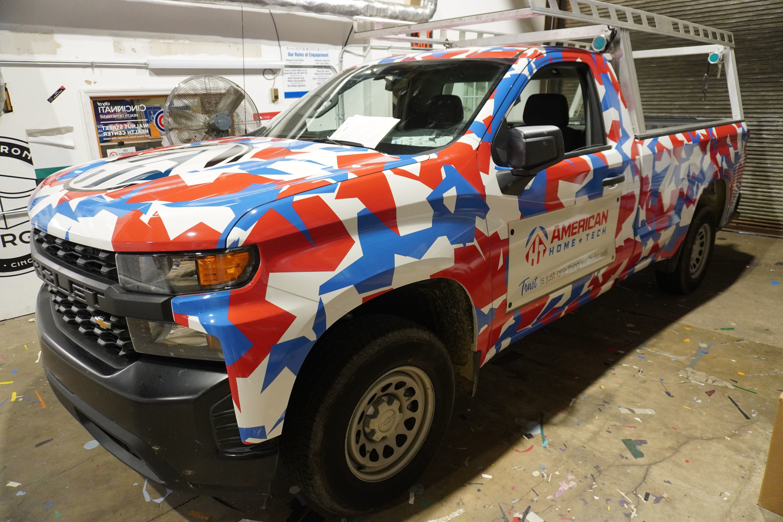 American Home Tech Truck Wrap