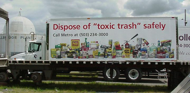 Metro Hazardous Waste Truck full color digital Print vehicle graphics