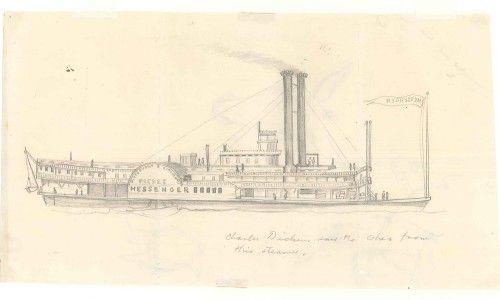 Pittsburgh and Cincinnati Packet Messenger Steamboat