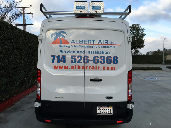 Ford Transit vehicle graphics Orange County CA