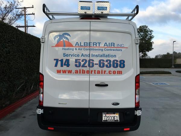 Ford Transit vehicle graphics Orange County CA