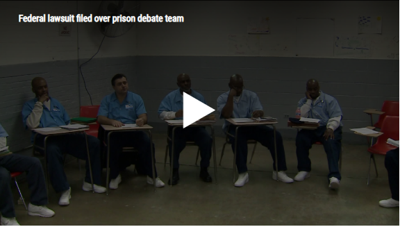 Federal lawsuit filed over prison debate team