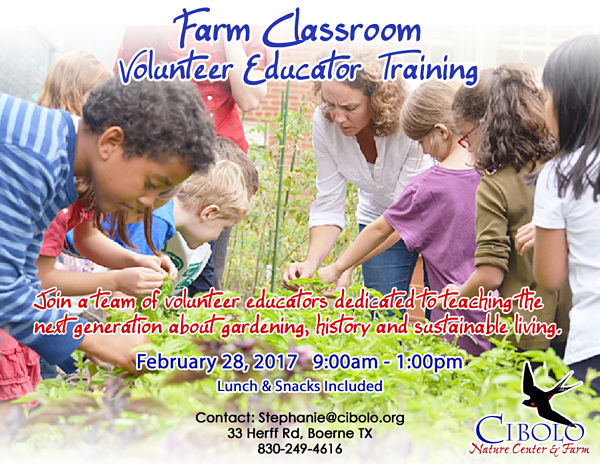 FARM: Farm Classroom Volunteer Educator Training