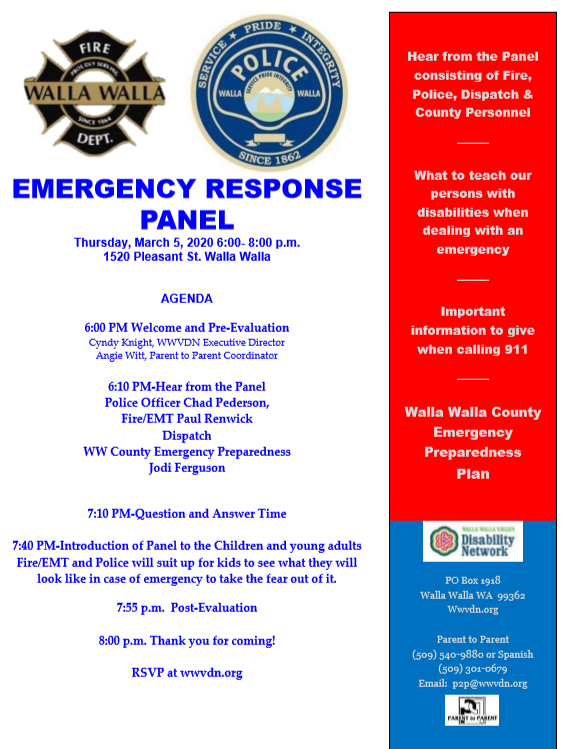 *POSTPONED* Emergency Response Panel -- Rescheduled for April 2, 2020
