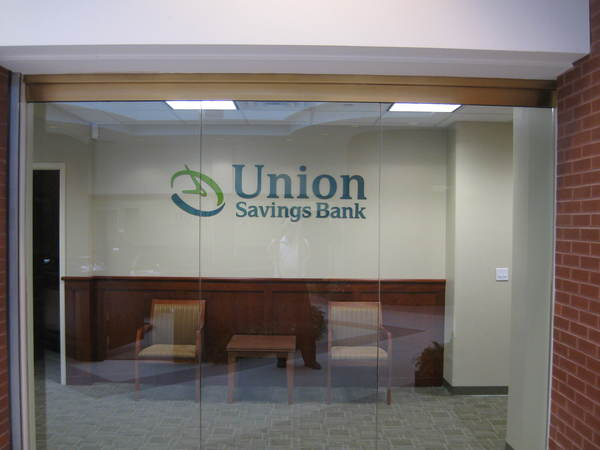 "Interior Office Reception Area Wall Sign,  3/8"" Raised, Painted Acrylic Letters, Stud Mount to Wall"