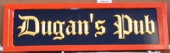 RB27511- Closer View of Y25510, Irish Pub Sign with Gold Old English Letters