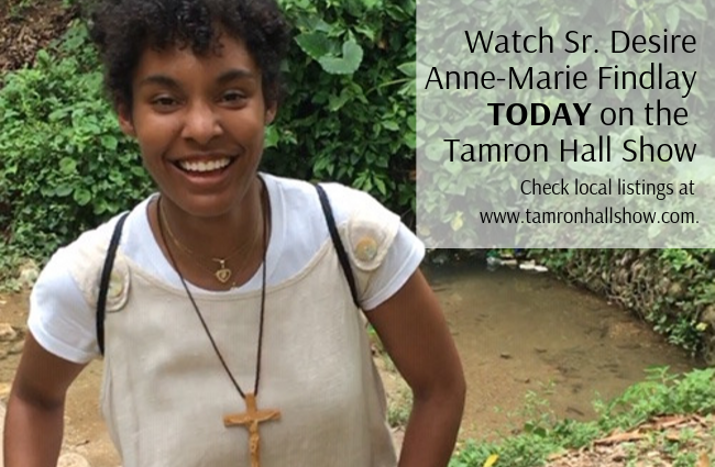 Sr. Desire Anne-Marie Findlay on the Tamron Hall Show