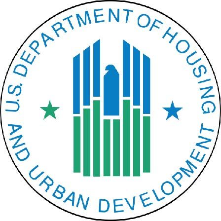 AP-6150- Carved Plaque of the Seal of the US Department of Housing & Urban Development (HUD), Artist Painted