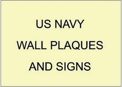 V31201 - US Navy Organizational and Award Wall Plaques and Signs