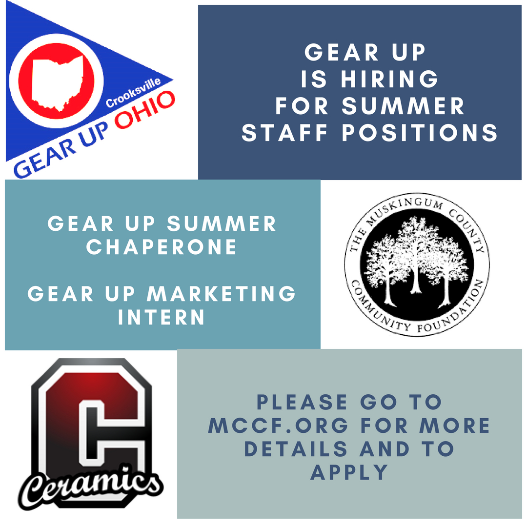 GEAR UP is Hiring for Summer Staff