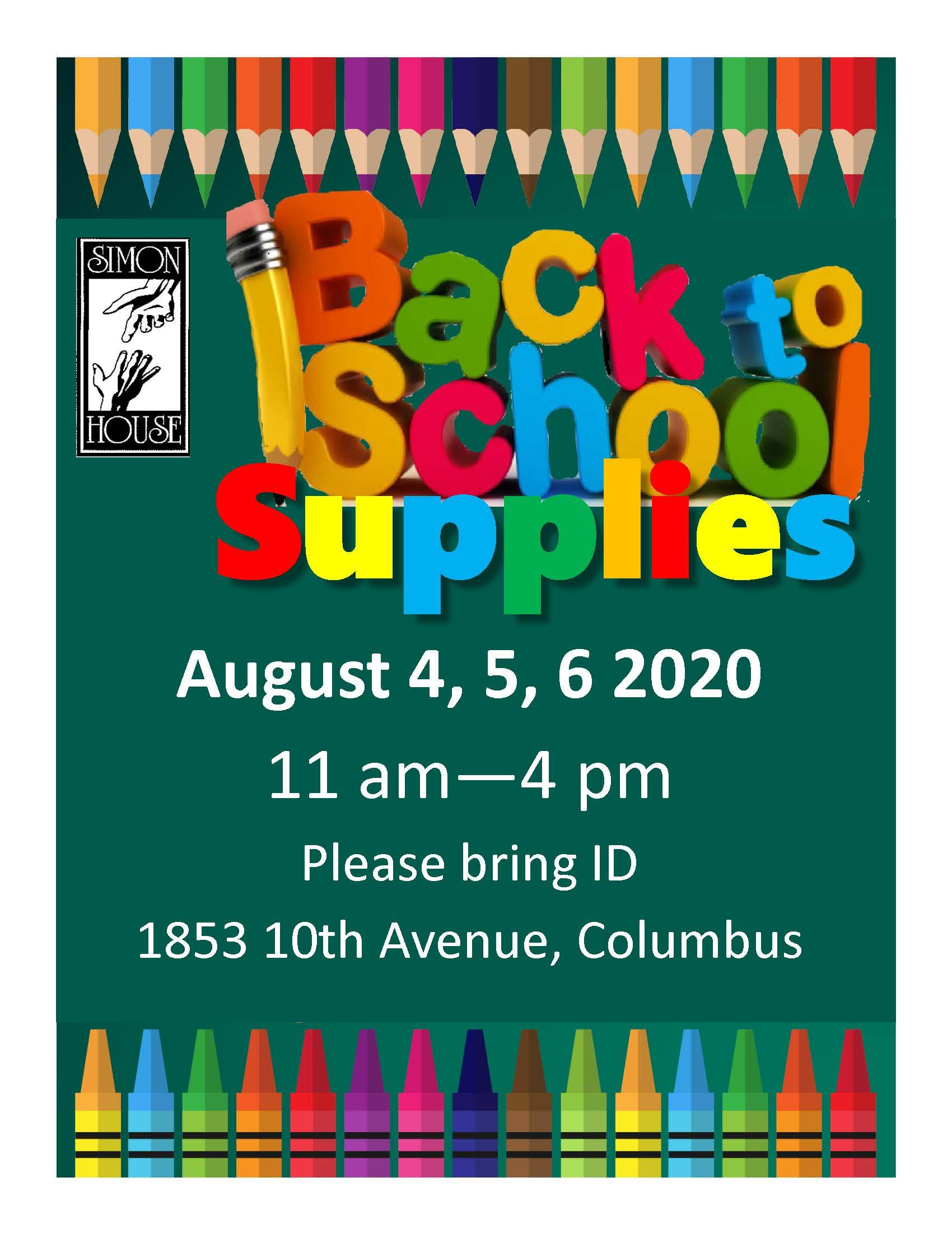Back to School Supplies at Simon House