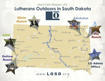 Lutherans Outdoors in South Dakota : Summer Camp : Joy Ranch : Location