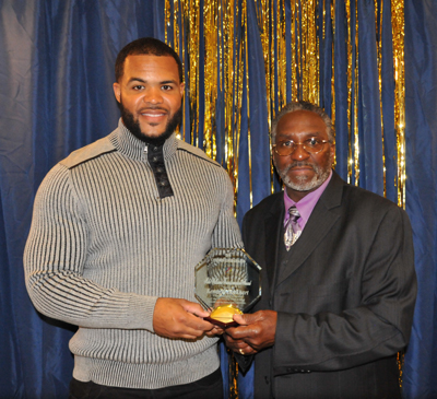 Kenneth Lockhart (winner of the Mike Williams Transformation Award), and President, Pastor Silas Johnson.