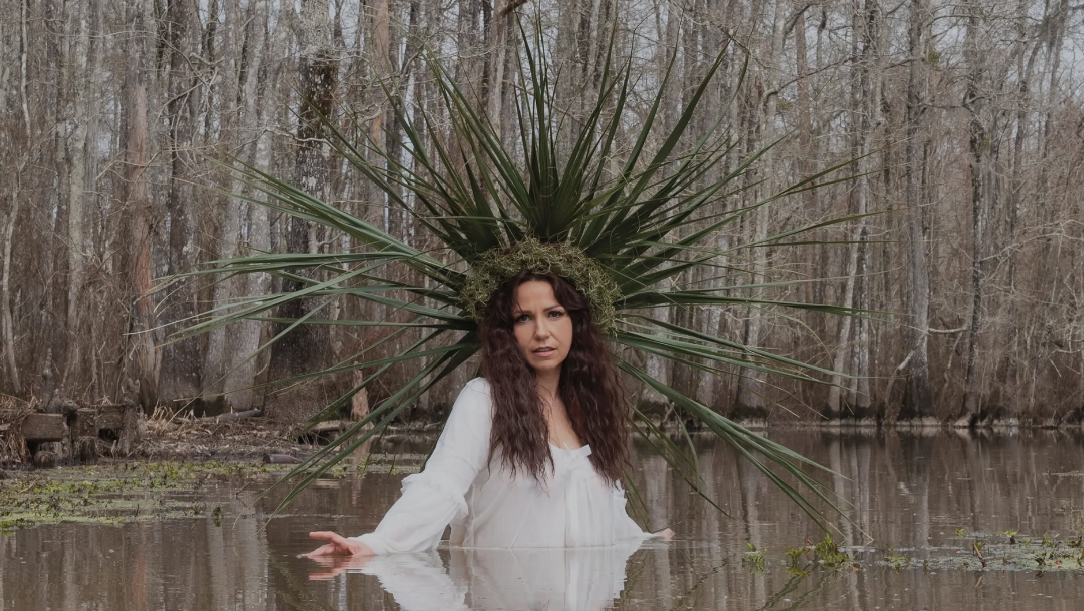 image of Tiffany Pollack rising out of the bayou