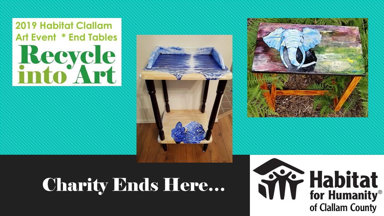 2019 Habitat Clallam Art Auction - End Tables