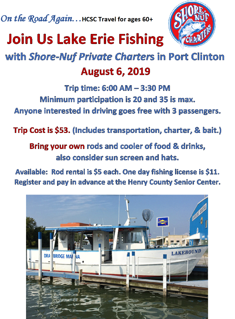 August 6 Lake Erie Fishing Trip Port Clinton