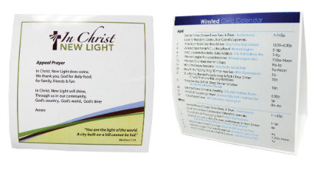 "Table Tents - 5.75"" x 5.75"""