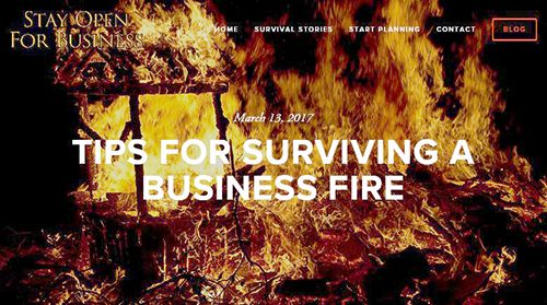 Tips for surviving a business fire