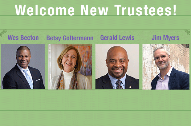 Welcome New Trustees