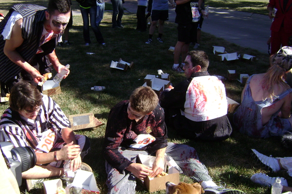 Donut Dash 2012 Zombies eating donuts