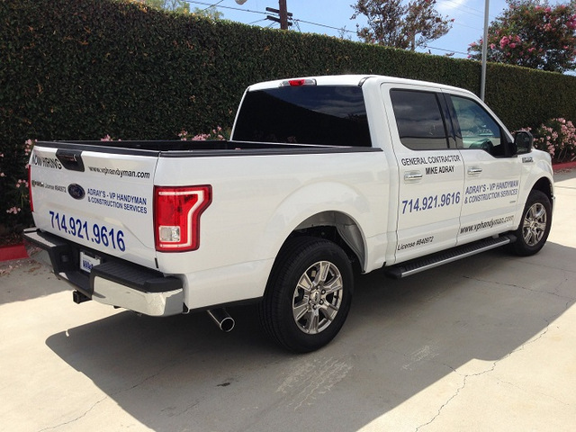 Truck Lettering for Contractors in Orange County