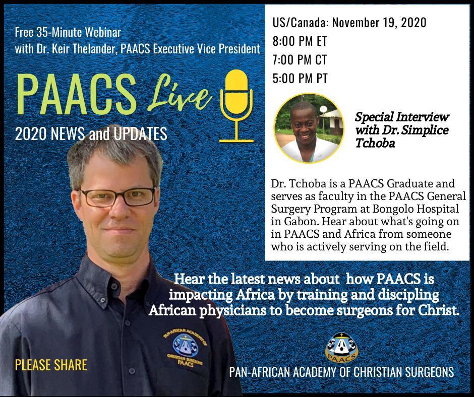 PAACS Live Webinar: November 19, 2020