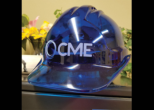 CME Construction Helmet Decal