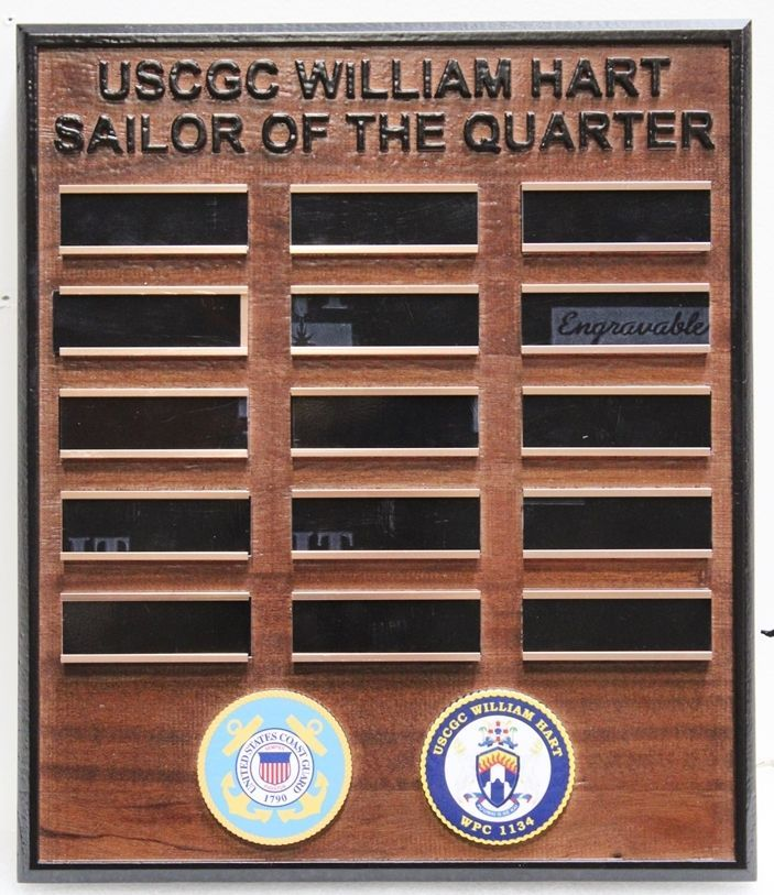 "NP-2780 - ""Sailor-of-the-Quarter"" AwardBoard for the US Coast Guard Cutter William Hart"