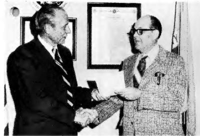 Wallace Winkler receives award at NSA