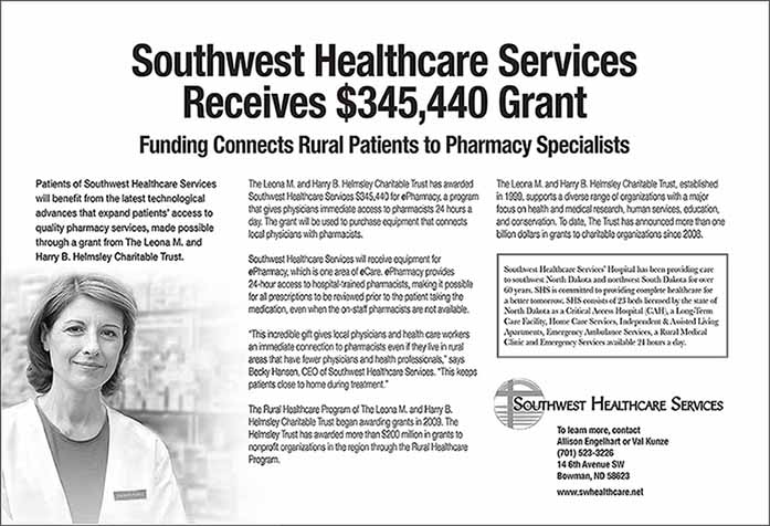 Southwest Healthcare Services Receives $345,440 Grant