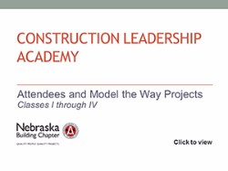 Construction Leadership Academy Attendees