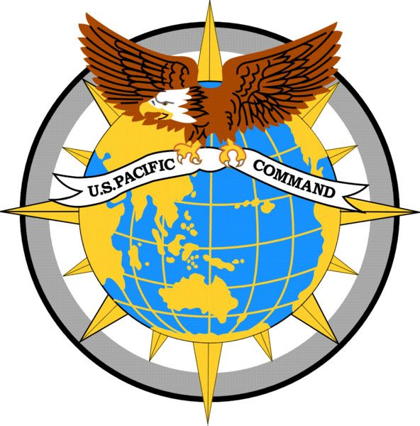 V31718 - Carved Wooden Wall Plaque for US Army Pacific Command