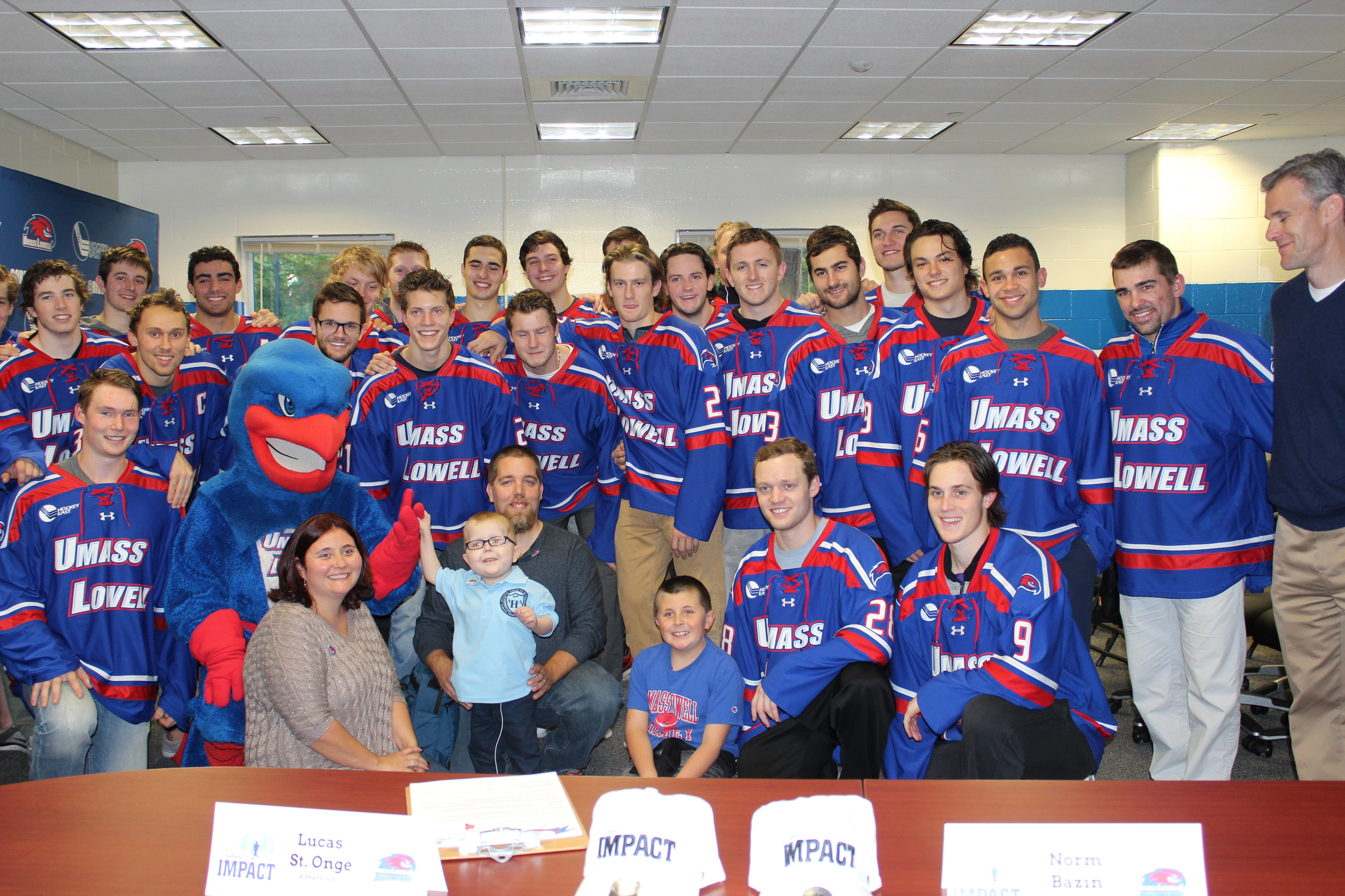 River Hawks Welcome Lucas on Team IMPACT Draft Day