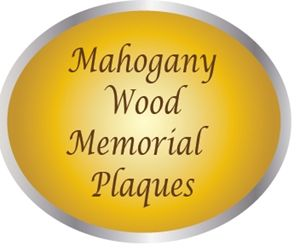 ZP-4000 -  Carved Memorial and Commemorative Wall Plaques, Engraved Mahogany Wood