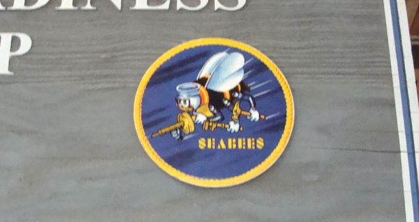 V31300 - Closeup of Seabee Crest/Seal for  Large Seabee Equipment Division Cedar  Sign