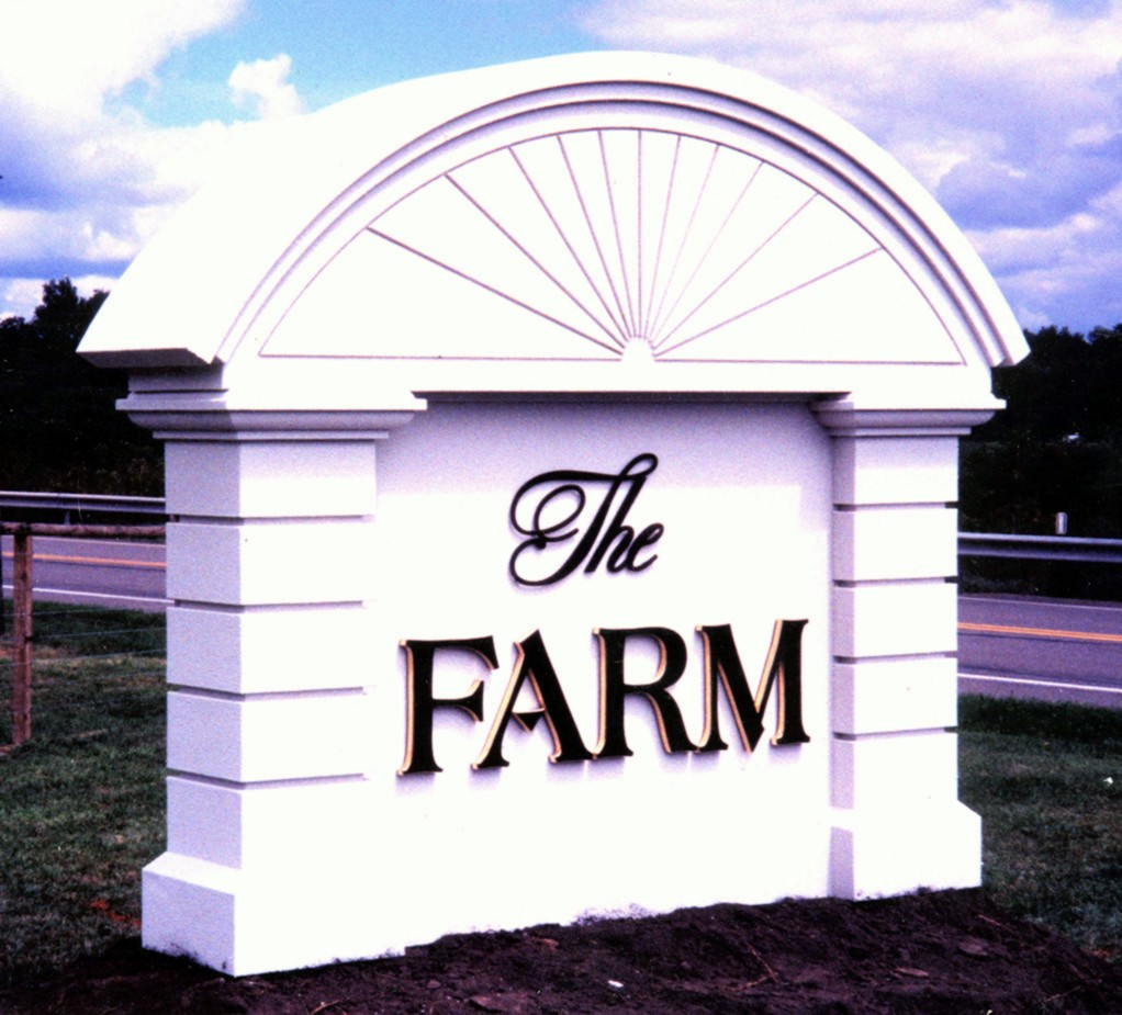 O23999 - Farm Monument Sign for Driveway Entrance