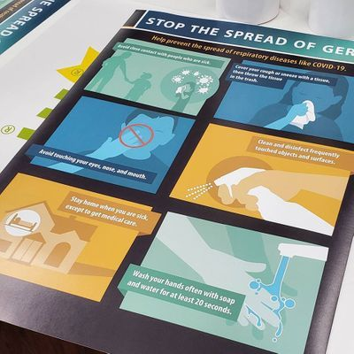 Stop Germ Spread Poster