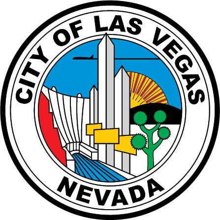 DP-1620 - Carved Plaque of the Seal of the City of Las Vegas, Nevada,  Artist Painted
