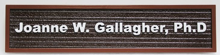 B11365 - Carve 2.5D and Sandlasted Wood Grain Door or Wall Personnel Name Sign