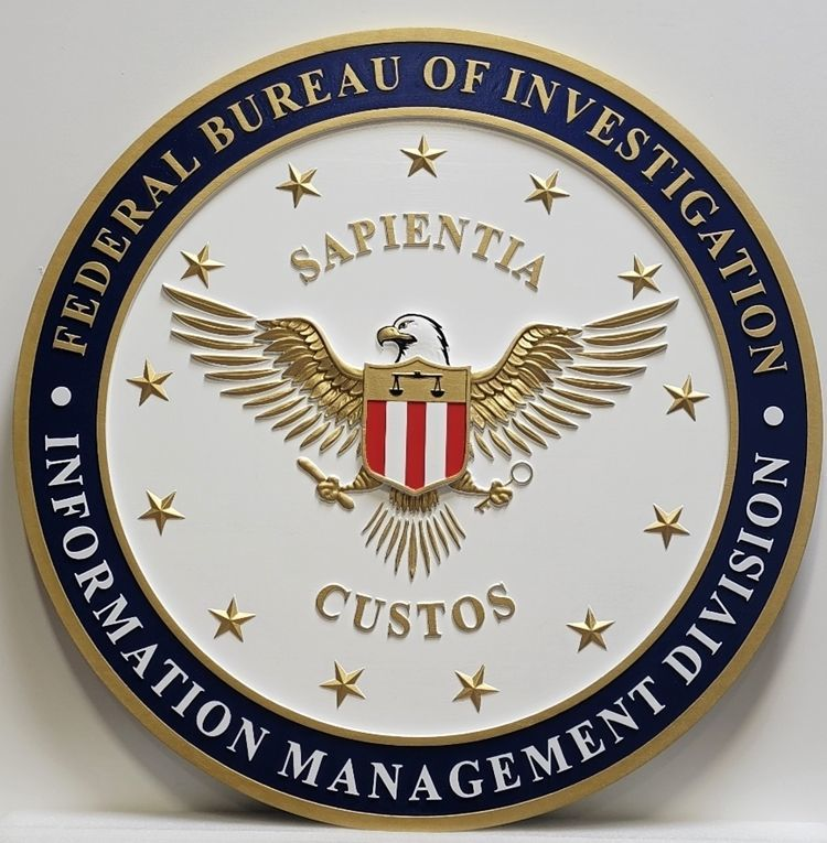 AP-2446 - Seal of the Information Management Division, FBI,Painted