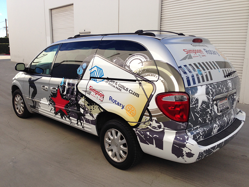 Vinyl Van Graphics Mini Van Wrap Vehicle Graphics Buena