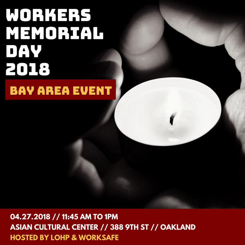April 27, 2018 - Workers Memorial Day 2018