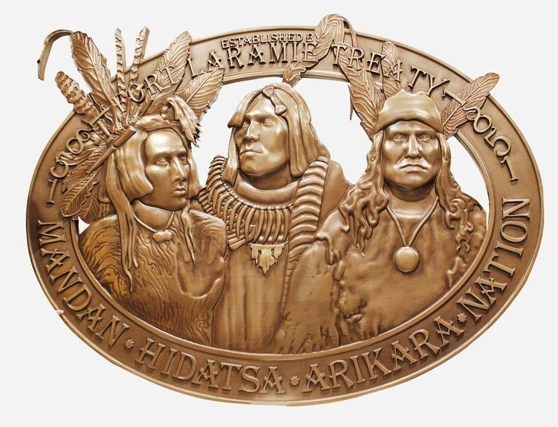 MA1002 - Commemorative Plaque of the Fort Laramie Treaty of 1851
