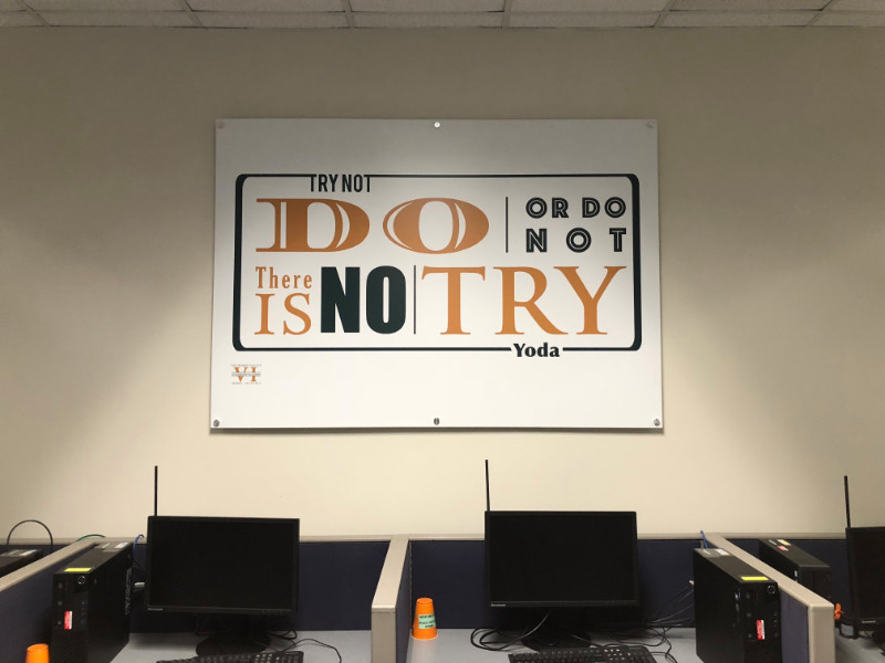Motivational Wall Graphics for Colleges in Whittier CA