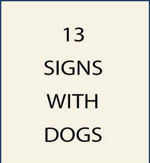 13. M22925 - Signs with Dogs